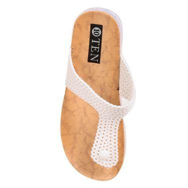 Ten Pvc White Womens Slippers -ts272