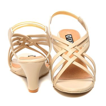 Synthetic Leather Beige Gladiators -579Beg01