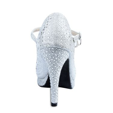Ten Synthetic Silver Stilettos -ts07
