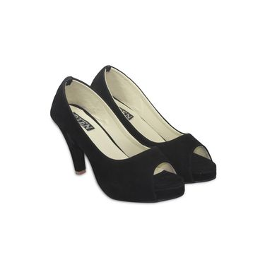 Ten Suede Black Pumps -ts08