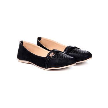 Ten Suede Black Loafers -ts128