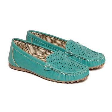 Leather Turquoise Loafers -lfpncfrj02