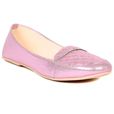 Ten Faux Leather Pink Loafers -ts305