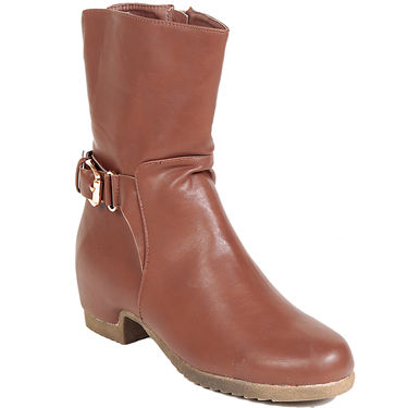 Leather Brown Boots For Womens -tb23
