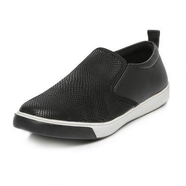 Ten Black Leather Moccasins -mtj29