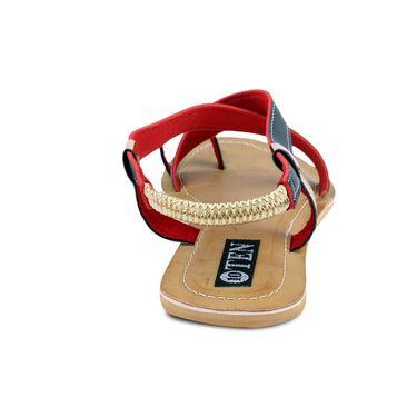 Ten Artificial Leather Black & Beige Sandals -ts22
