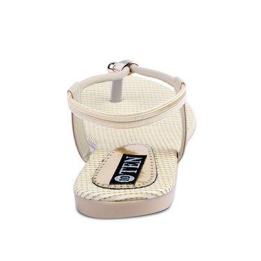 Ten Artificial Leather Beige Sandals -ts26