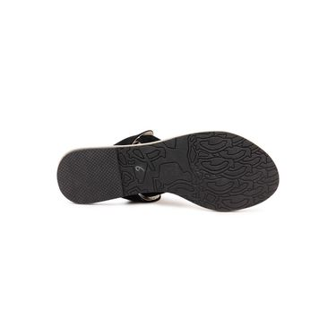 Ten Suede Black Sandals -ts199