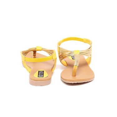 Ten Synthetic Leather 300 Women's Sandals - Yellow