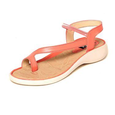 Leather Orange Sandals -546Orng02