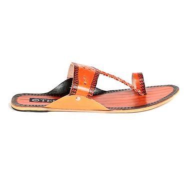 Womens Ethnic Slippers tj21 -Orange