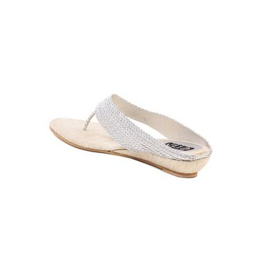 Ten Jute Fabric 295 Women's Sandals - Silver