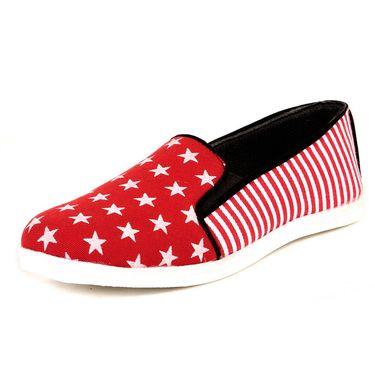 Red Womens Sneakers For Women -Te31
