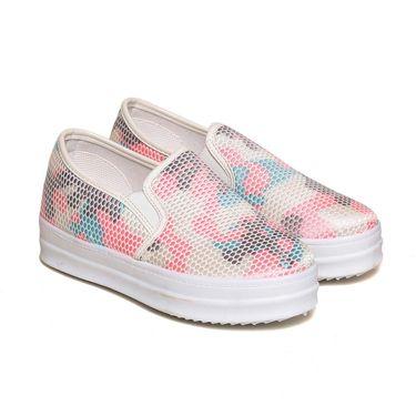 Fabric Multicolor & Pink Sneakers -snkrntpnk02