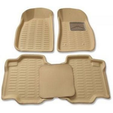 3D Foot Mats for Mahindra Scorpio Black Color Without Dikki Mat-TGS-3D Black 62
