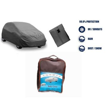 Datsun Go-Cross Car Body Cover  imported Febric with Buckle Belt and Carry Bag-TGS-G-WPRF-14
