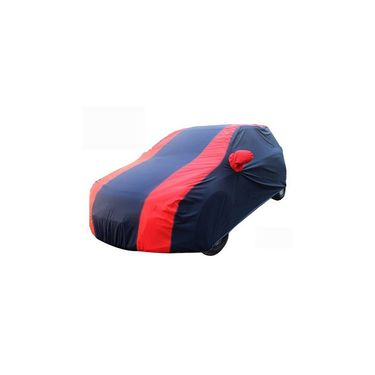 Mahindra KUV 100 Car Body Cover Red Blue imported Febric with Buckle Belt and Carry Bag-TGS-RB-67