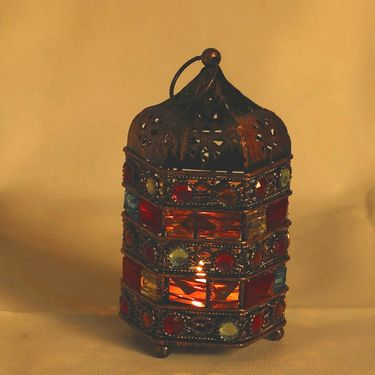 Set of 2 Tealight Holder with vintage look-TLT1406_TLT1428