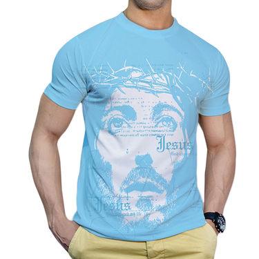 Effit Printed Casual Tshirts_Trsb0612 - Sky Blue