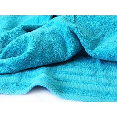 Story@Home Pack of 4 Pcs Bath Towel 100% Cotton-Navy-TWL-1002-B
