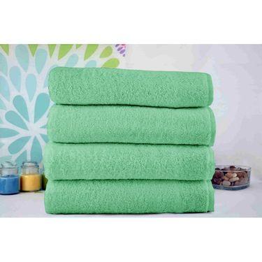 Story@Home Pack of 4 Pcs Bath Towel 100% Cotton-Light Green-TWL-1006-B