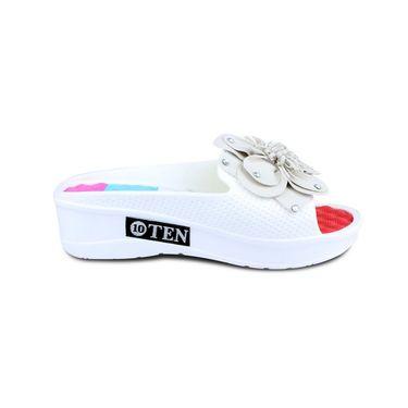 Ten PVC Slippers For Women_tenbl057 - White