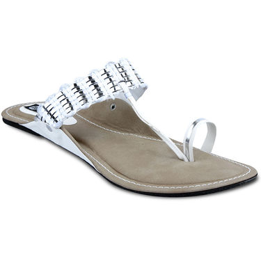 Ten Synthetic Sandals For Women_tenbl071 - White
