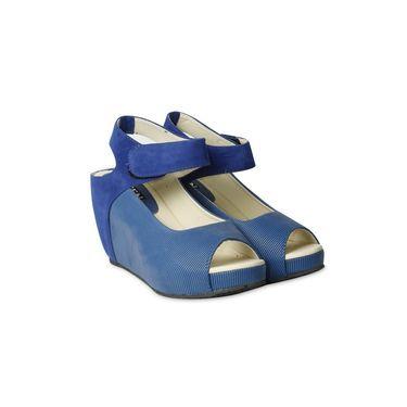 Ten Fabric Heels Sandals For Women_tenbl089 - Blue