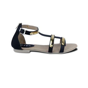 Ten Faux Leather Womes Sandals For Women_tenbl125 - Black