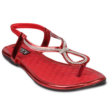 Ten Faux Leather Womes Sandals For Women_tenbl151 - Red
