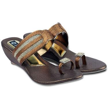 Ten Synthetic Sandals For Women_tenbl168 - Brown