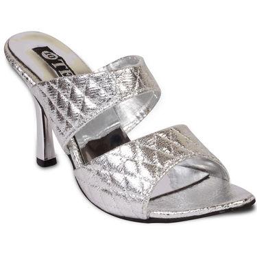 Ten Synthetic Sandals For Women_tenbl180 - Silver
