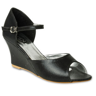 Ten Synthetic Wedges For Women_tenbl223 - Black