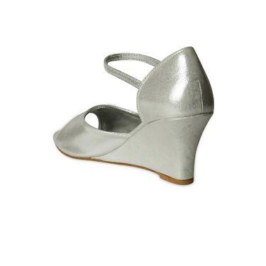 Ten Synthetic Wedges For Women_tenbl225 - Silver