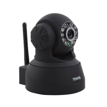 Tenvis TR3818 - P2P IP Wireless Pan/Tilt IR LED Security Camera with Night Vision - Black