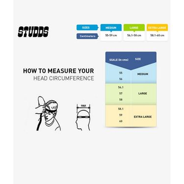Studds - Full Face Helmet - Ninja Pastel Plain FlipUp (Black) [Extra Large - 60 cms]
