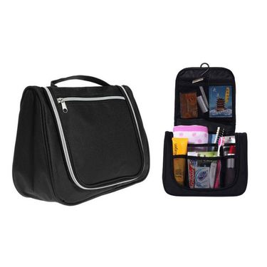 Branded Nylon Travel Organizer To_Bag_Black