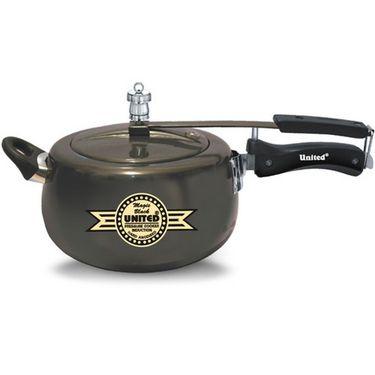 United Innerlid Pressure Cooker Magic Black Hard Anodised 5 Ltr