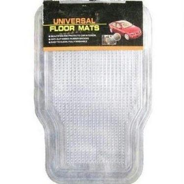 Combo of Car Vacuum Cleaner + Universal Car Foot Floor Mat - Set of 4 Pcs-autof-1