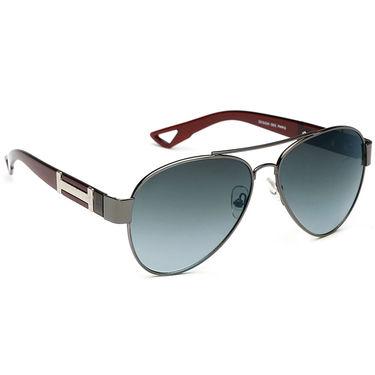 Alee Metal Oval Unisex Sunglasses_137 - Blue
