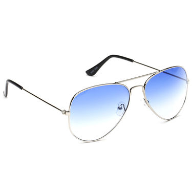 Alee Metal Oval Unisex Sunglasses_121 - Blue
