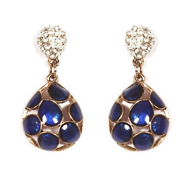 Urthn Preety Drop Style Earrings - Blue - 1301709