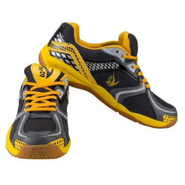 V22 Badminton Court Dark Grey and Yellow Shoes Size - 7
