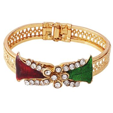 Variation Red & Green Meenakari Openable Kada_Vd11442