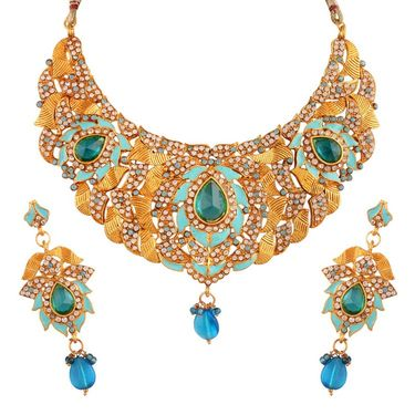Variation Divine Blue Enamel Meenakari Necklace_Vd13284