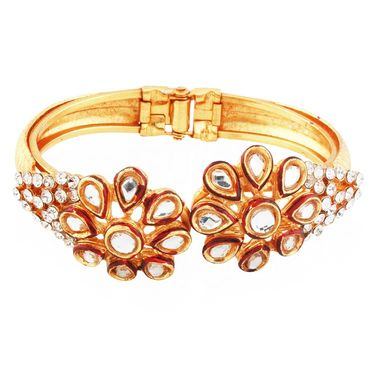 Variation Alloy Kundan Openable Bangle_Vd13762