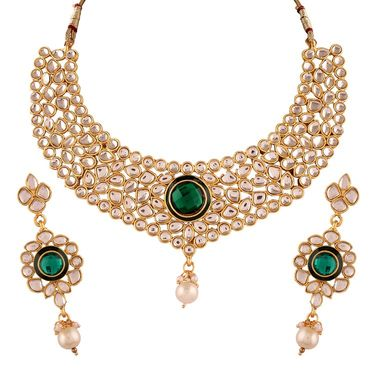 Variation Green Kundan Royal Necklace Set_Vd13998