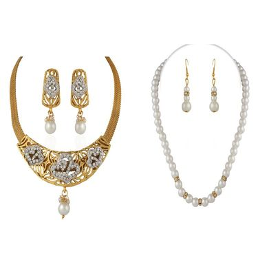 Combo of Variation Necklace Set + 1 Pearl Mala_Vd14048