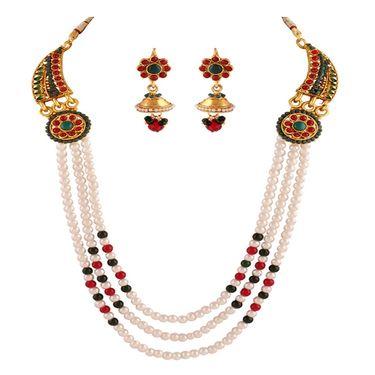 Combo of 4 Variation Nacklace Sets + 1 Bangle + 3 Chain Pendant Sets_Vd16414