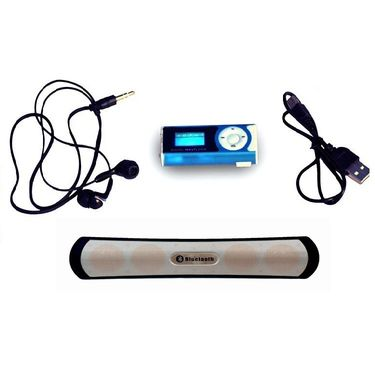 Vizio MP3 Player (Blue) with Free Bluetooth speaker